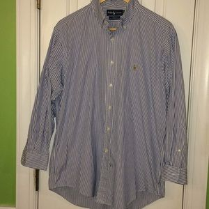 Ralph Lauren men's 16-32 striped Yarmouth shirt